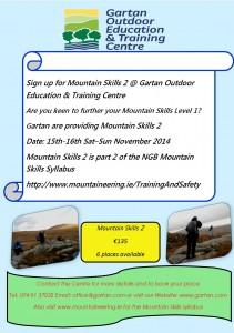 Mountain skills Sat Sun