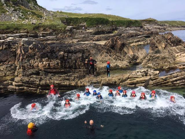 Outdoor Adventure Camp Coasteering